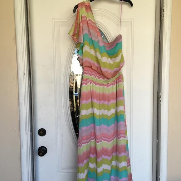 Jessica Simpson Dresses & Skirts - Jessica Simpson One Shoulder Dress Sz 12